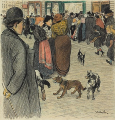 Theophile-Alexander Steinlen. In the crowd