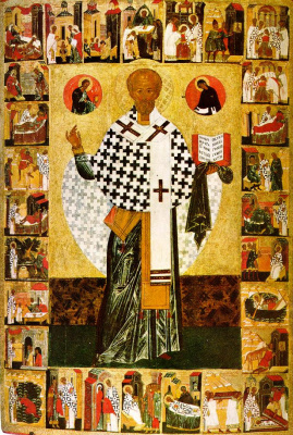 Icon Painting. Saint Nicholas