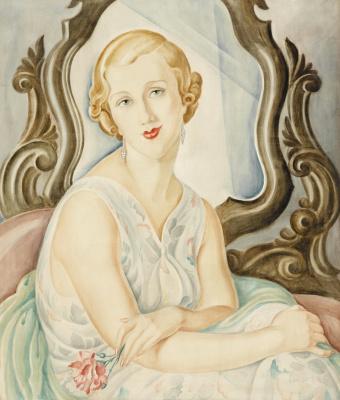 Gerda Wegener. Woman in the mirror