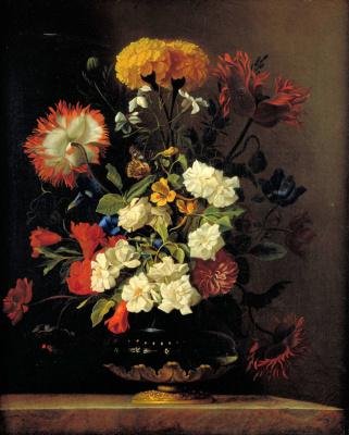 Виллем ван Алст. Натюрморт с цветами в вазе