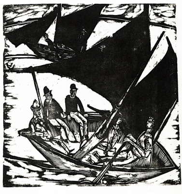 Ernst Ludwig Kirchner. Sailing boat near the island of Fehmarn