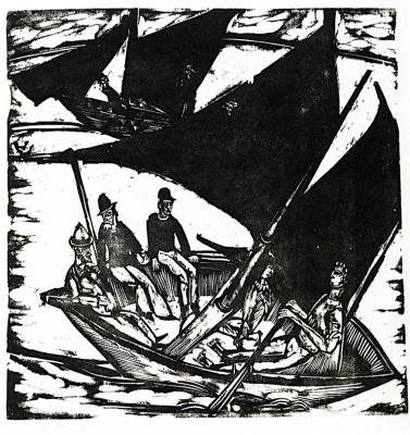 Эрнст Людвиг Кирхнер. Парусная лодка возле острова Ферман