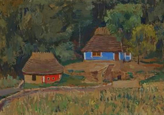 Peter Ivanovich Cold. Farm in the forest