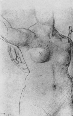 Jean Auguste Dominique Ingres. Sketch Nude