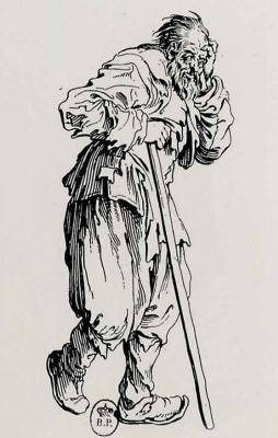 Жак Калло. Нищий с длинной палкой