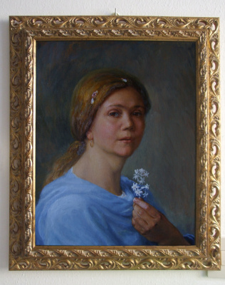 Elena Sergheevna Akinina. Self-portrait