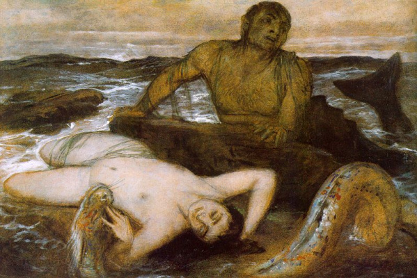 Arnold Böcklin. Triton and Nereid