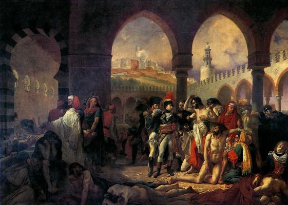 Антуан-Жан Гро. Бонапарт посещает чумной госпиталь в Яффе