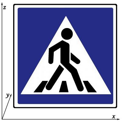 """Arthur Gabdrupes. """"Sign"""" : """"traffic"""" : """"Pedestrian"""" crossing ."""