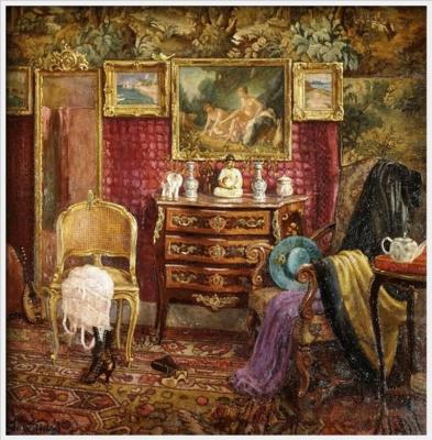 Einar Wegener (Lily Elbe). The interior of the boudoir