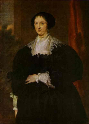 Anthony van Dyck. Portrait of a lady in black