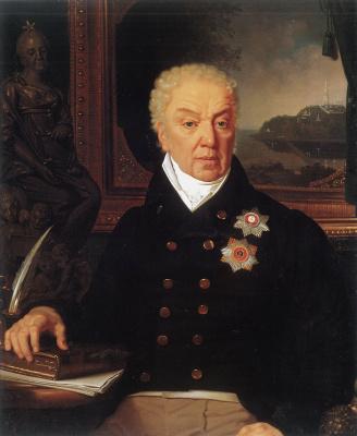 Vladimir Borovikovsky. Portrait of the Minister of Justice D.P. Troshchinsky