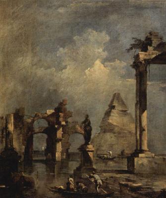 Франческо Гварди. Каприччио с пирамидой