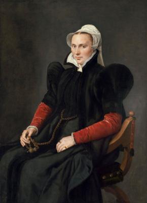 Антонис ван Дасхорст Мор. Портрет сидящей женщины