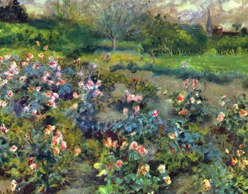 Pierre-Auguste Renoir. Rose garden