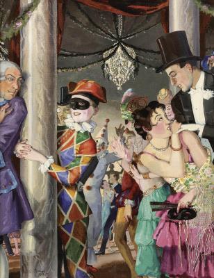 Constantin Somov. Masquerade