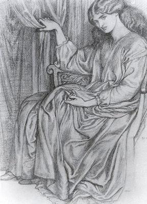 Dante Gabriel Rossetti. Silence. Sketch