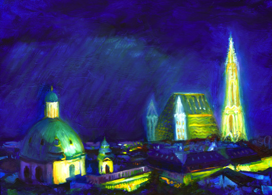 Mihaïl Zablodski. Прага ночью