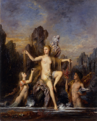 Gustave Moreau. The birth of Venus from the sea foam