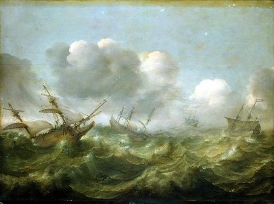 Абрахам Виллартс. Бурное море
