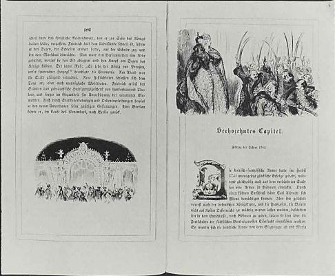 "Adolf Friedrich Erdmann von Menzel. Illustration to the book of Franz Kugler's ""History of Frederick the Great"""