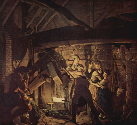Joseph Wright. In the forge