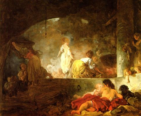 Jean Honore Fragonard. Laundress