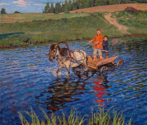 Николай Петрович Богданов-Бельский. Пересечение реки