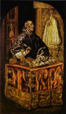 Эль Греко (Доменико Теотокопули). Святой Ильдефонс