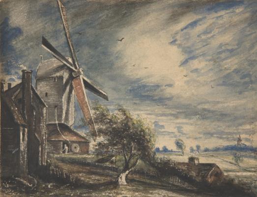 John Constable. Mill near Colchester