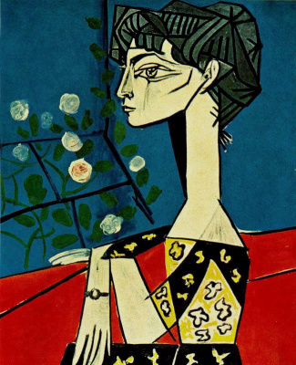 Pablo Picasso. Jacqueline with flowers