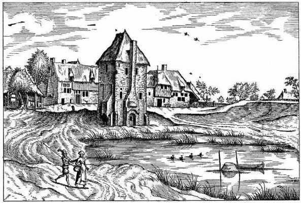 "Pieter Bruegel The Elder. The series ""Small landscapes"". Landscape No. 8"