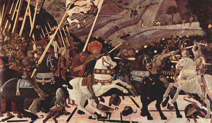 Paolo Uccello. The battle of San Romano. Attack of Niccolo da Tolentino