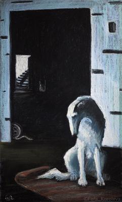 Fefa Koroleva. Greyhound. Pastel.