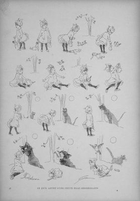 Theophile-Alexander Steinlen. Cats: pictures without words. What happened to the naughty little girl?