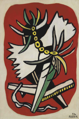 Fernand Leger. Insect on a red background