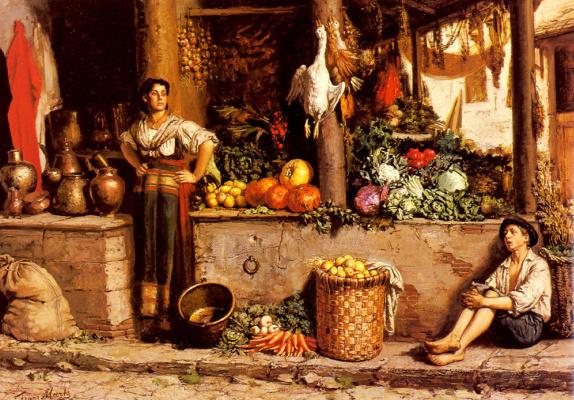 Франс Миртс. Овощной рынок