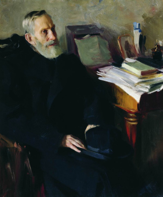 Boris Mikhailovich Kustodiev. The portrait of Stepan Lukic Nicholas, uncle of the artist