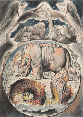 William Blake. Behemoth and Leviathan