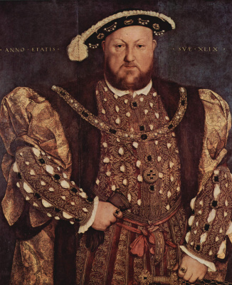 Hans Holbein The Younger. Portrait of Henry VIII