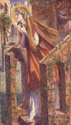 Dante Gabriel Rossetti. Mary Magdalene leaving the house feasting