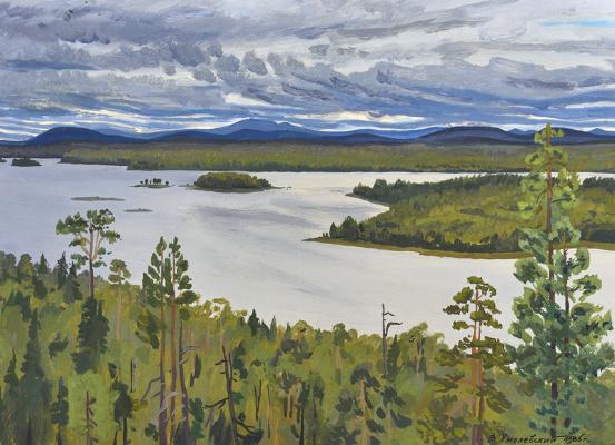 Vladimir Iosifovich Khmelevsky. Clouds over Salma