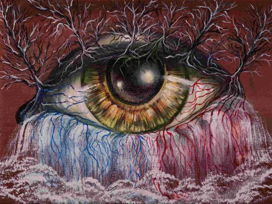 "Alla Struchayeva. Painting ""Inside View"""