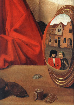 Petrus Christus. Goldsmith in his shop (St. Eligi). Fragment
