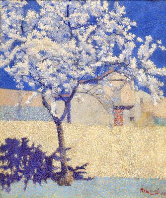 Maximilian Luce. Flowering tree