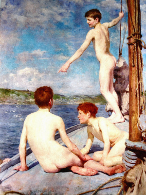Tuke Henry Scott. 1858-1929. The Bathers, 1889