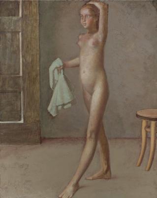 Balthus (Balthasar Klossovsky de Rola). Nude with a towel