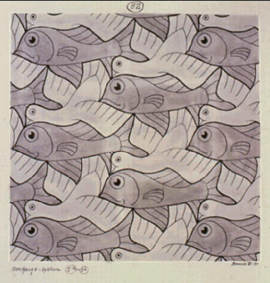 Мауриц Корнелис Эшер. Птица, рыба (№ 82)