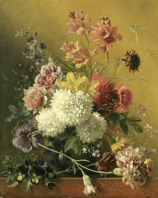 Георг Якоб Иоганн ван Ос. Натюрморт с цветами