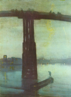 James Abbot McNeill Whistler. Nocturne in blue and gold: Old Battersea bridge